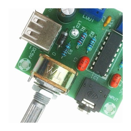 Stereo Amplifier alimentation 5V DC by USB ideal bartop
