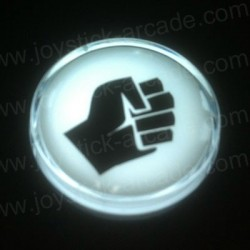Fight icon Chrome Illuminated push-button White