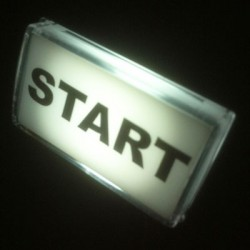 White Rectangular Illuminated Start push button