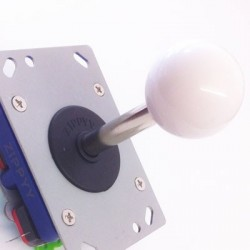Joystick Zippy long shaft white Ball 8 directions
