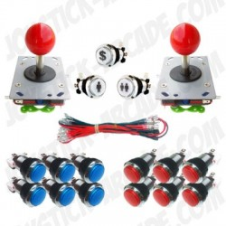 Pack Joystick Arcade Zippy Lux - 2 players