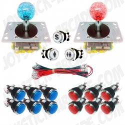 Pack Joystick Arcade Full Lux - 2 players