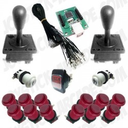 Pack USB Joystick Arcade USA Retro - 2 players