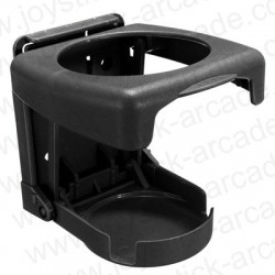 Drink retractable support for arcade cabinet or pinball