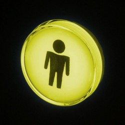 Player 1 Chrome Illuminated push-button Yellow