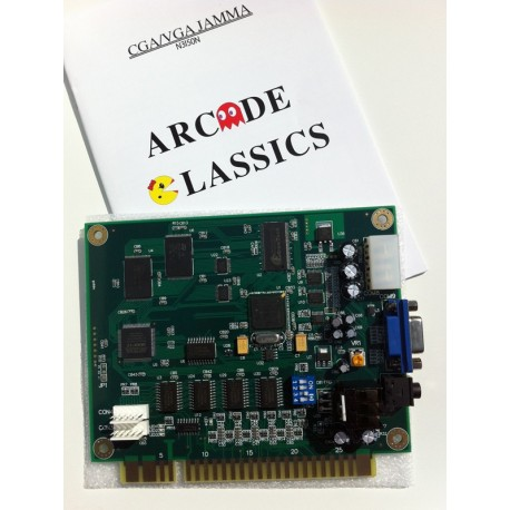 JAMMA Board PCB 60 games in 1 - Arcade Classics