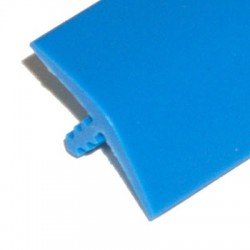 T-molding Bleu Mat 16 mm chant de protection