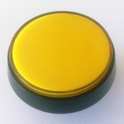Yellow Illuminated push-button 60mm for arcade cabinet or pinball