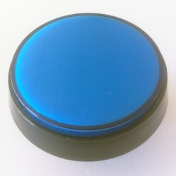 Blue Illuminated 60mm push-button for pinball or arcade cabinet