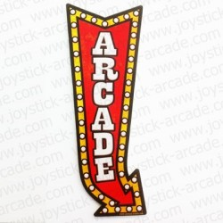 Sticker Deco Arcade vintage