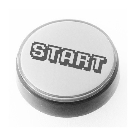 White illuminated 60mm START push button for pinball or arcade cabinet