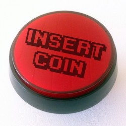 Red Illuminated push-button 60mm for pinball or arcade cabinet