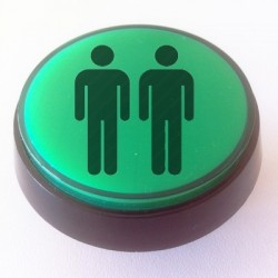 Green Illuminated Player 2 push-button 60mm