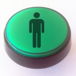 Player 1 Green Illuminated push-button 60mm