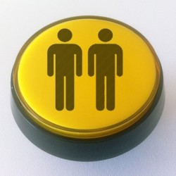 Player 2 Yellow Illuminated push-button 60mm for arcade cabinet or pinball