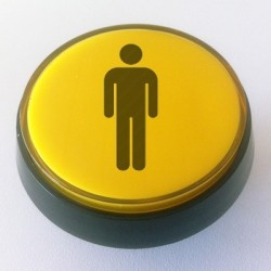 Player 1 Yellow Illuminated push-button 60mm for arcade cabinet or pinball