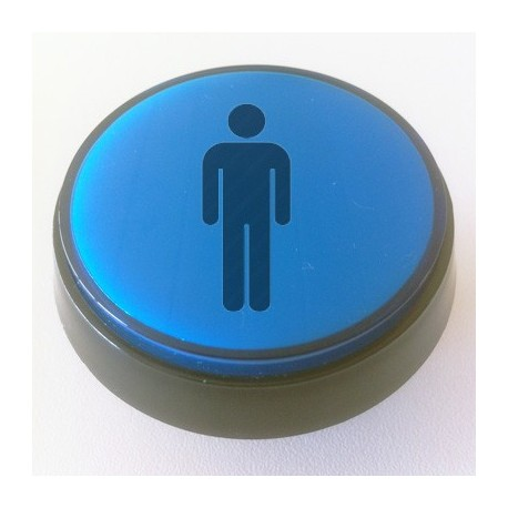 Player 1 Blue Illuminated 60mm push-button for pinball or arcade cabinet