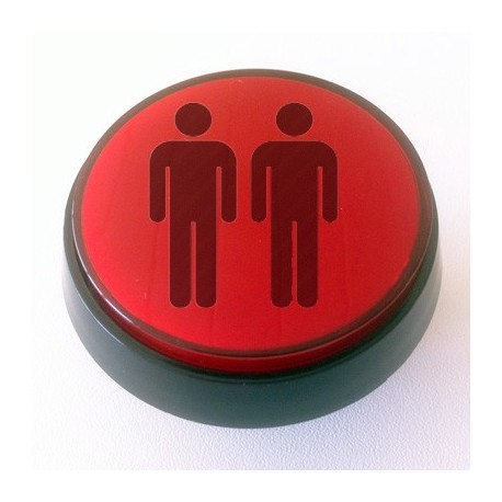 Player 2 Red Illuminated push-button 60mm for arcade cabinet