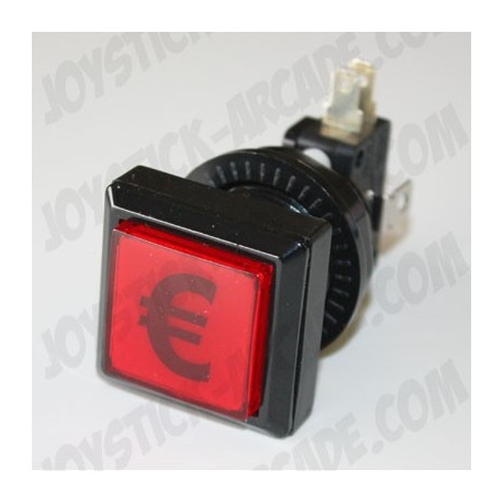 Illuminated Square push-button - Euro for Bartop