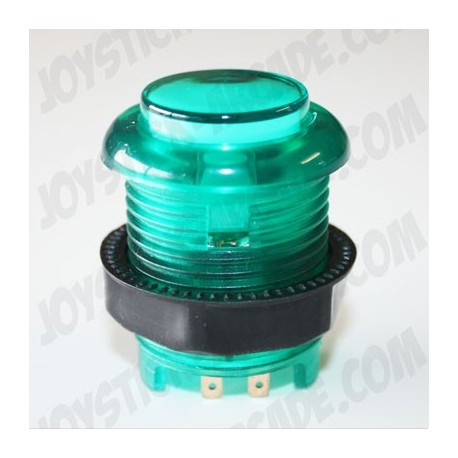 Pulsador 28mm corto luminoso Verde ideal para bartop