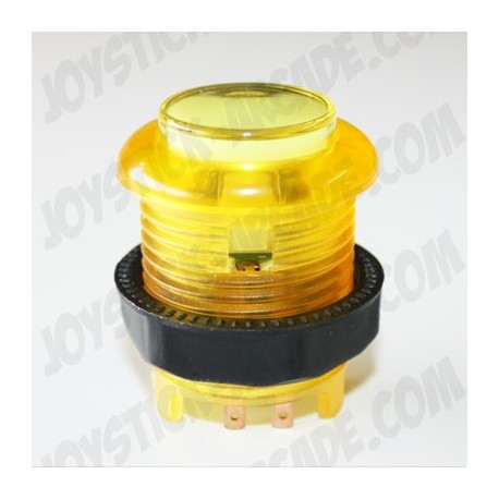 Pulsador 28mm corto luminoso Amarillo ideal para bartop