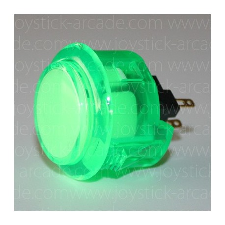 Push button SANWA OBSC-30 Cristal green