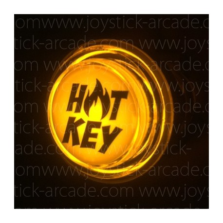 Hot Key Illuminated push-button Yellow