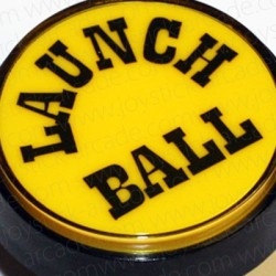 Bouton Launch Ball Jaune 60mm pour flipper ou pincab