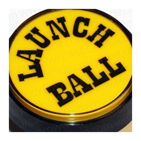 Pulsador Launch Ball 60mm Amarillo para pinball ou pincab