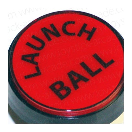 Bouton Launch Ball Rouge 60mm pour flipper ou pincab