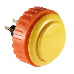 Yellow push-button SANWA OBSN-30 screw