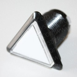 triangular Illuminated push-button White