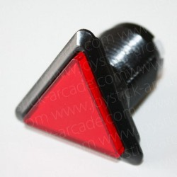 Bouton triangulaire lumineux Rouge