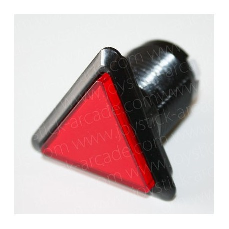 Pulsador triangular luminoso Rojo