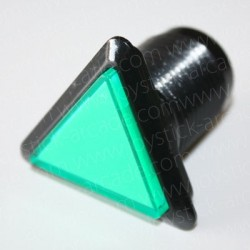 Botao triangular luminoso verde