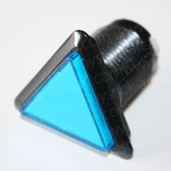 triangular Illuminated push-button Blue