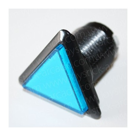 Pulsador triangular luminoso Azul