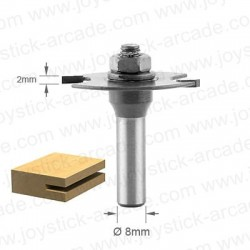 "Slotting Cutter 0.080"" 2 Wing for T-molding installation"