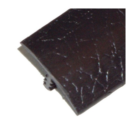 Black leather texture T-molding 19 mm