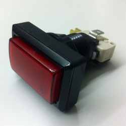 Rectangular Illuminated push button - Red