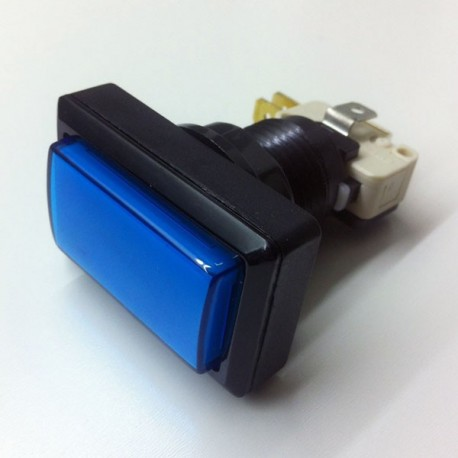 Rectangular Illuminated push button - Blue