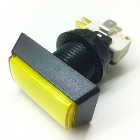 Rectangular Illuminated push button - Yellow