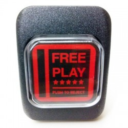 Bouton lumineux simulation monnayeur factice Free Play