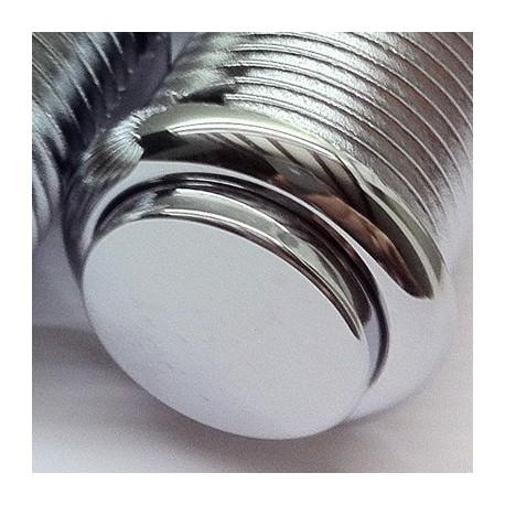 24mm Push button chrome