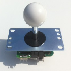 Joystick Sanwa JLF-TP-8YT short shaft white Ball