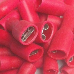 Pack 30 x terminales rojo isolado fast-on 4.8 mm