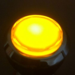 Illuminated push-button Yellow Chrome