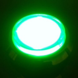 Chrome Illuminated push-button green