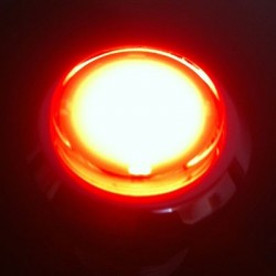 Bouton chrome lumineux Rouge - Ideal Bartop Pincab ou borne d'arcade