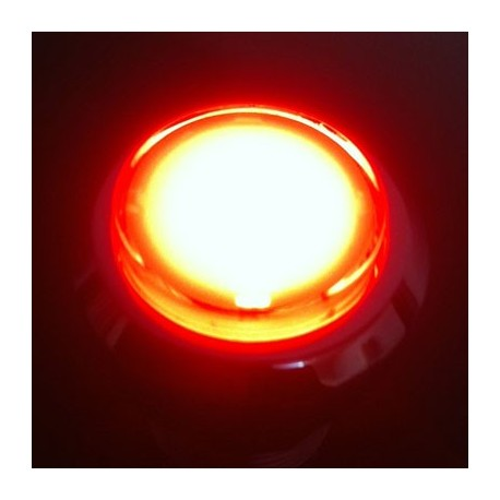 chrome Illuminated push-button Red